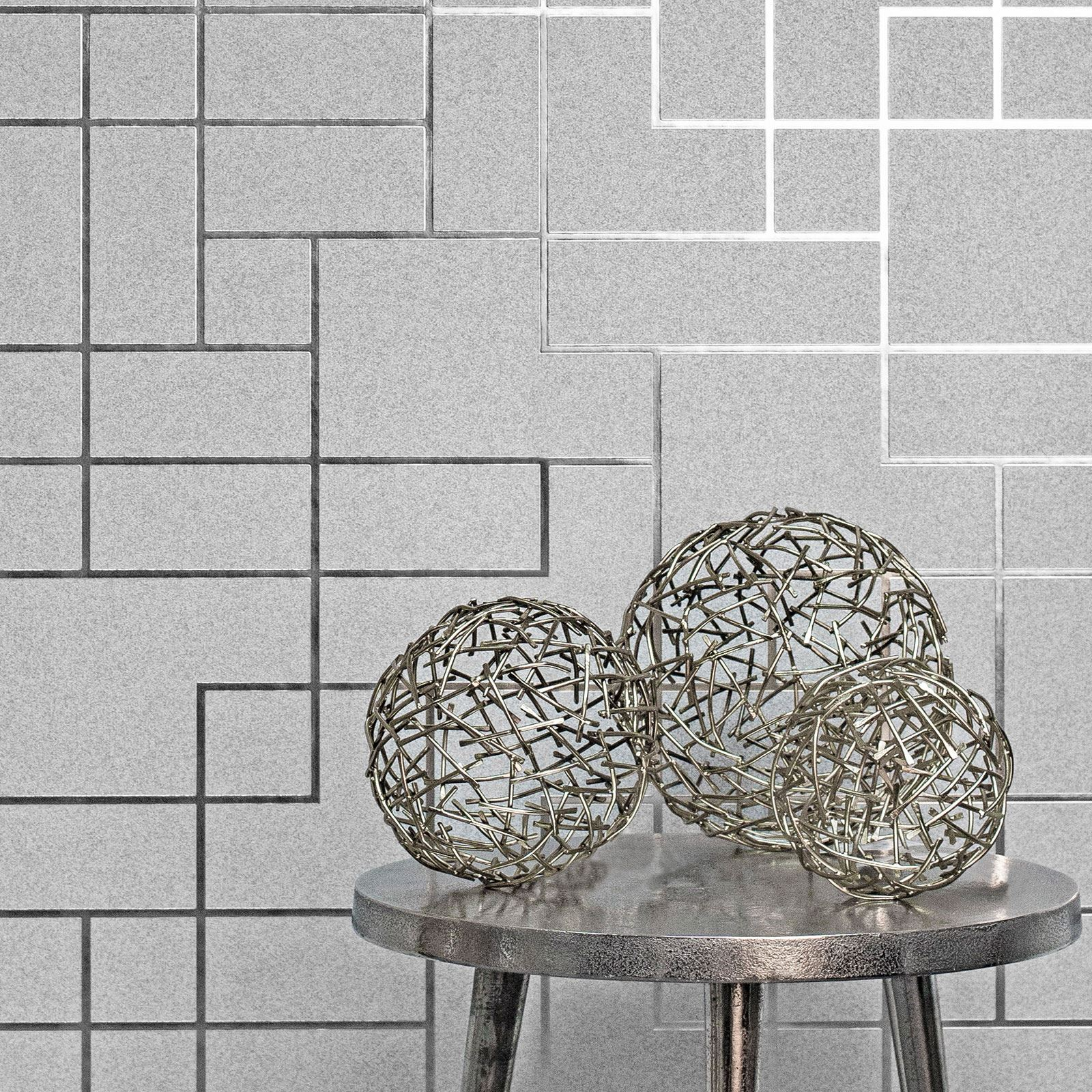 Metallisch Glitzer Dreieck Spalier Marmor Maze /& Mehr Geometrische Tapete