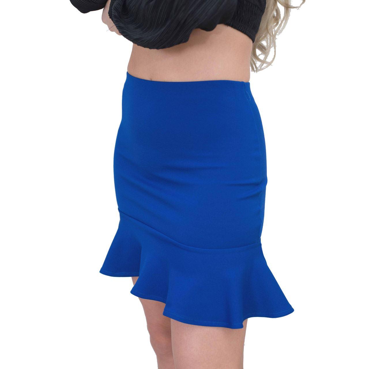 Jolie Max Damen Meerjungfrau-Linie Minirock Stretch Bodycon Plissiert