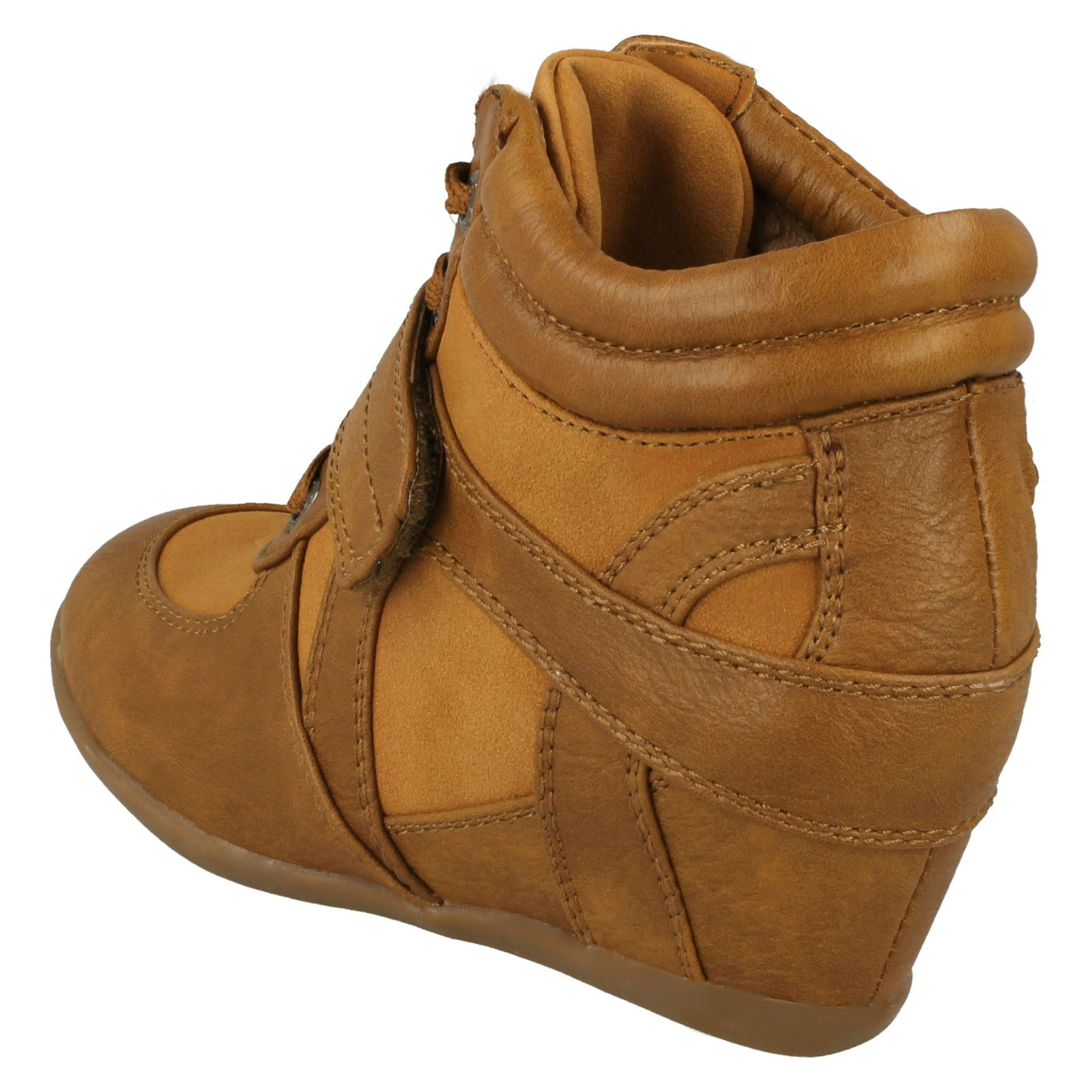 Girls Cutie Mid Wedge Ankle Boots