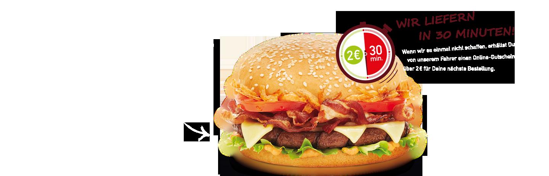 burgerme Burger Lieferservice Röstzwiebel Bacon