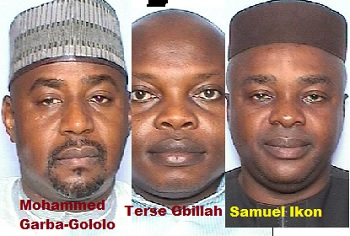 Terse Obillah Samuel Okon Mohammed Gololo