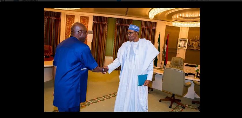 Buhari recieves David Mark