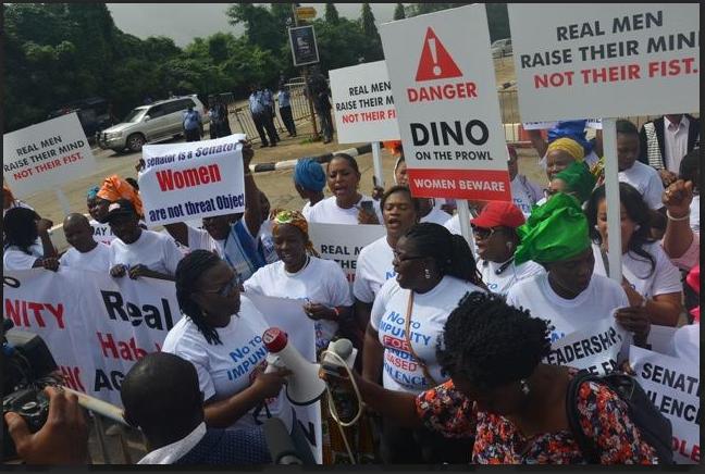 Abuja protest against Dino Melaye