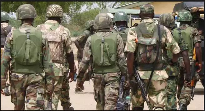 Nigerian Army dealing with militants