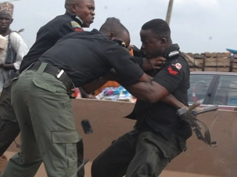 Police fight file photo