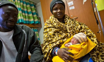A Nigerian, Taiwo gives birth on board rescue ship