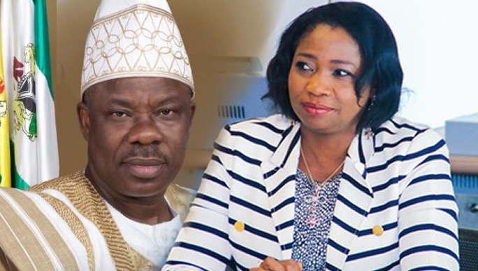 Gov Amosun and Abike Dabiri