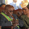 Zimbabwean President Robert Mugabe and his wife Grace attend a rally to mark the country's 37th independence anniversary in Harare, Zimbabwe, April 18, 2017. REUTERS/Philimon Bulawayo