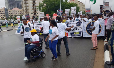 #NotTooYoungToRun protest in Abuja