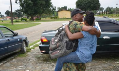 soldier returns home