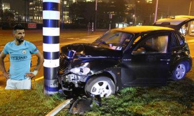 Sergio Aguero breaks ribs in car crash