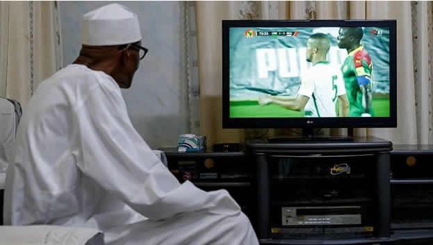 Buhari watching TSTV