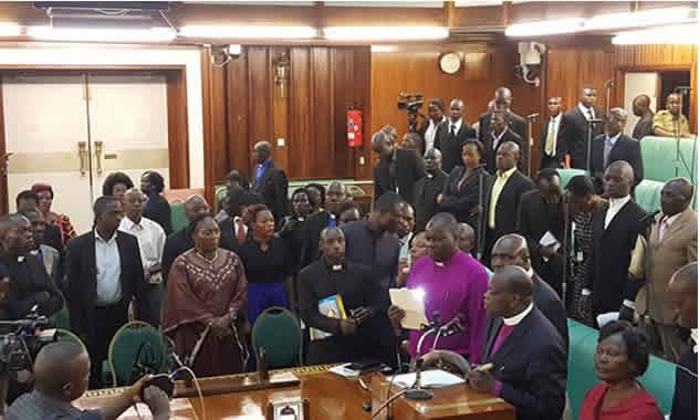 Ugandan-parliaments-fight