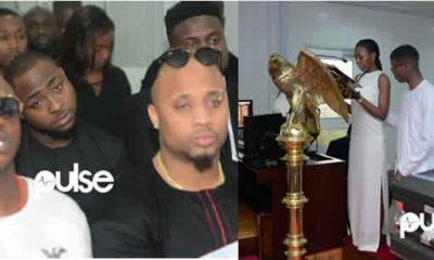 Davido-at-funeral DJ Olu