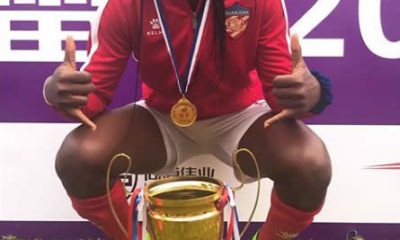 Oshoala wins best striker award in China
