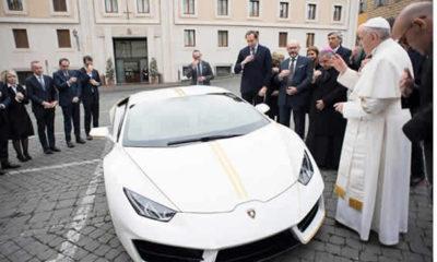 pope receives Lamboghini