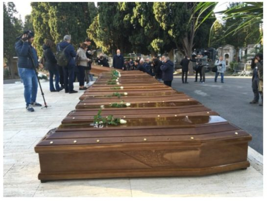 26 Nigerian women buried in italy after drowning in the Mediterranean sea