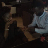 man proposes to wife