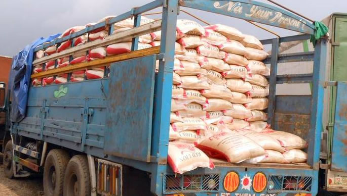 truck of rice