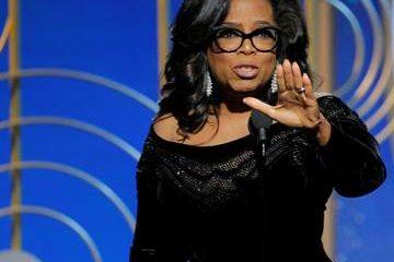 Oprah Winfrey at 75th Golden Globes awards