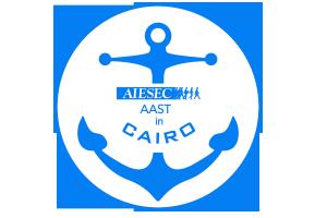AIESEC AAST在开罗徽标