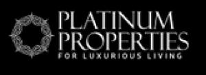 房地产服务的白金地产徽标