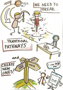 break traditional pathways