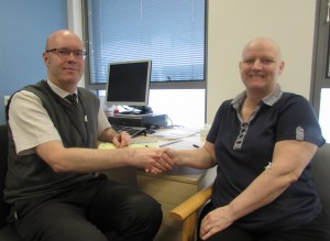 First patient Donna with Dr Adlard