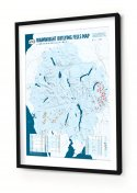 Framed Wainwright Outlying Fells Map Print