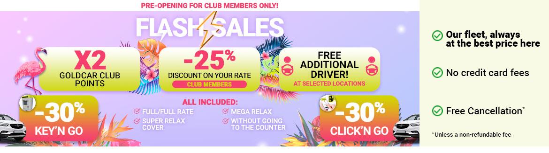 Cheap Car Rental at the best price - Goldcar Rent a Car