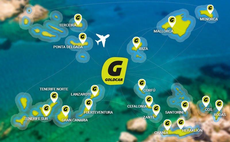 Alquiler de autos en las islas