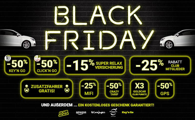 Black Friday Online Autovermietung