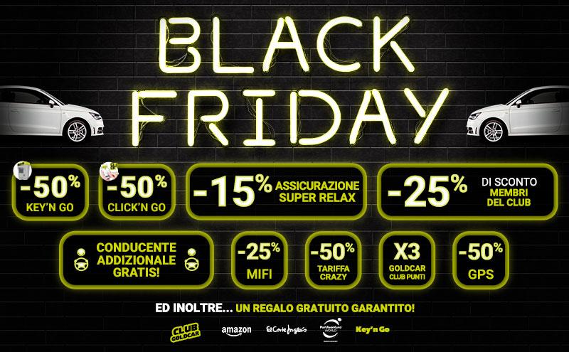 Black Friday Auto noleggio