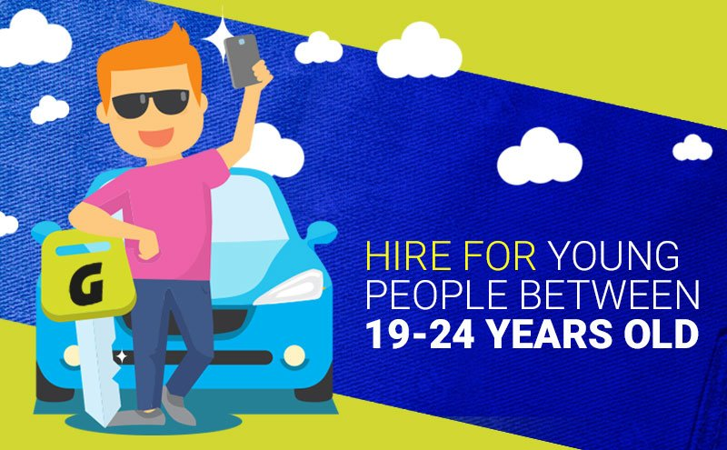car hire 20 years old