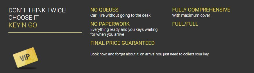 car hire pack Key´n Go