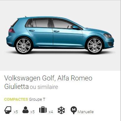 location de voiture online groupe T