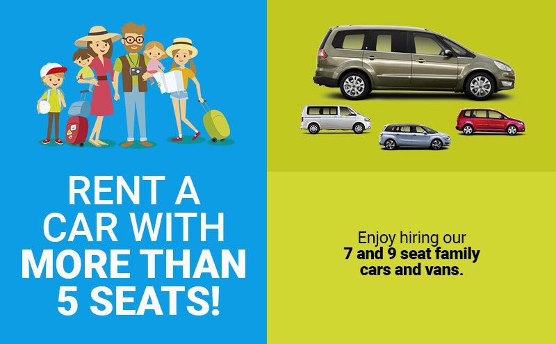 7 and 9 seat minivan hire