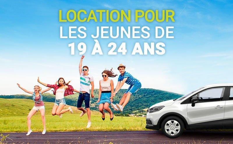 Location de voitures à 20 ans