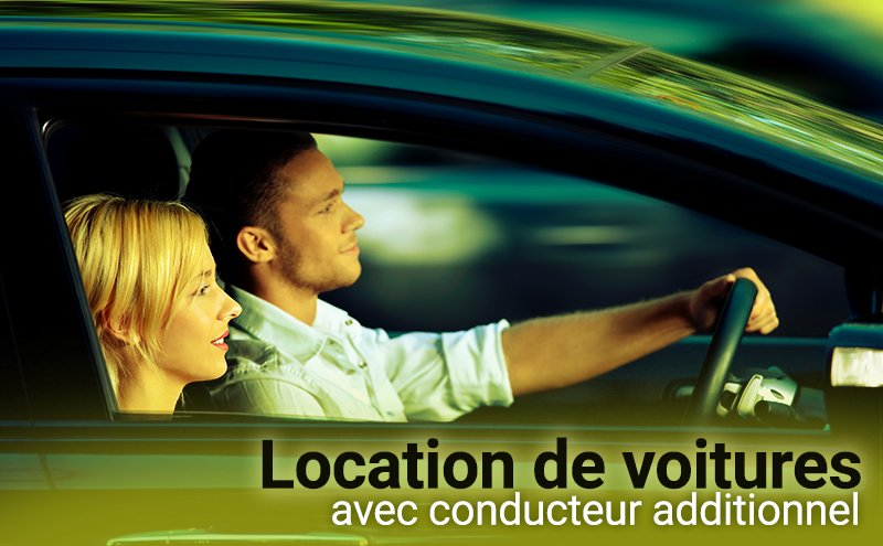 Location de voitures avec conducteur additionnel