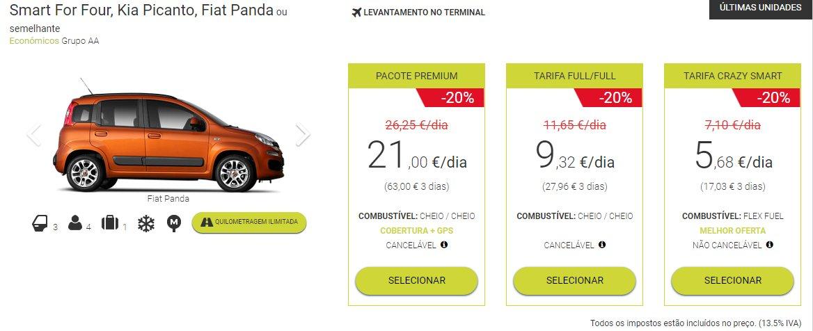 aluguer de carros nas Canárias