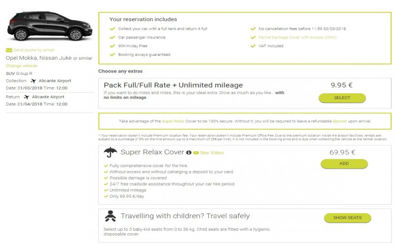 Car Hire with no Excess Insurance with Goldcar - Fully comprehensive