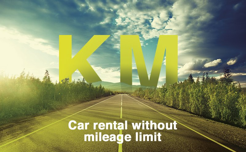 Rental car with Unlimited mileage