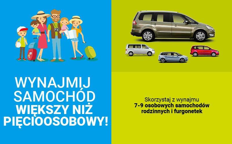 wynajem 7-9-osobowego minivanu