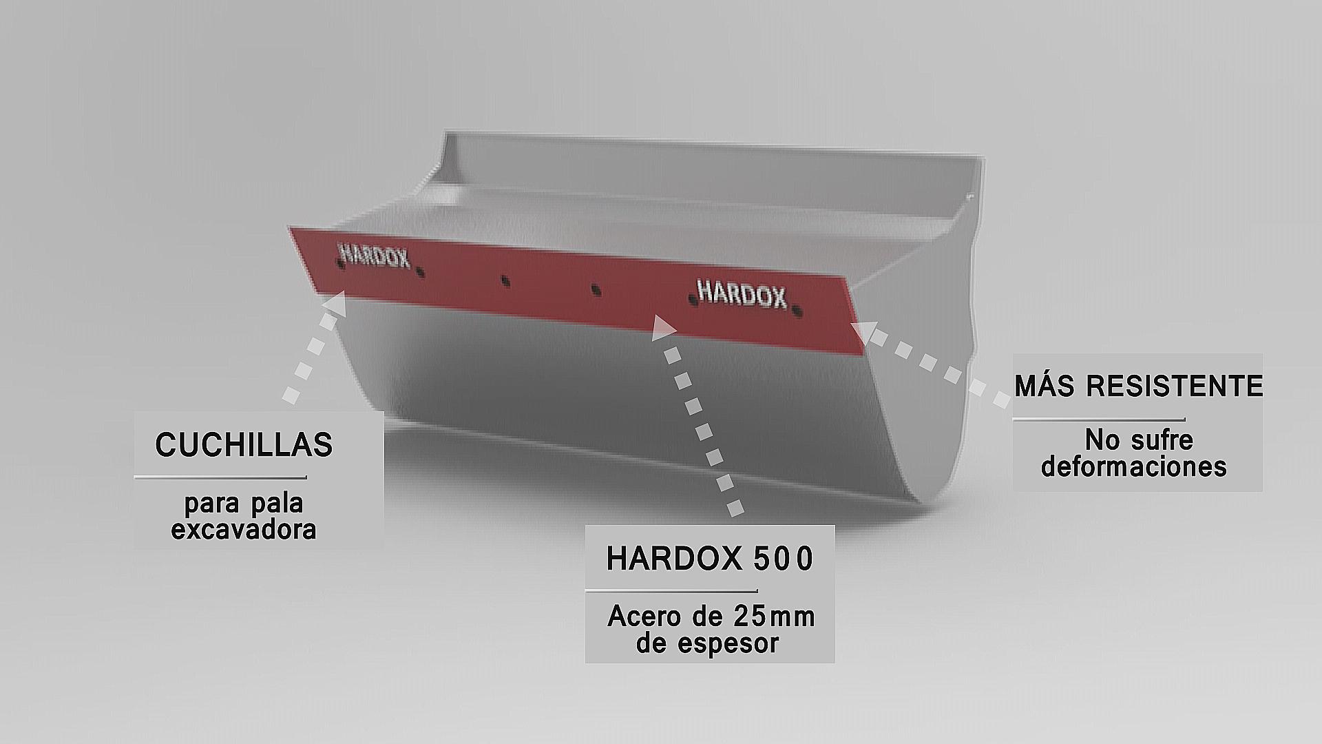 CUCHILLAS PARA PALA EXCAVADORA EN ACERO HARDOX 500
