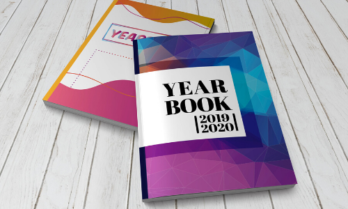 couverture yearbook colorée