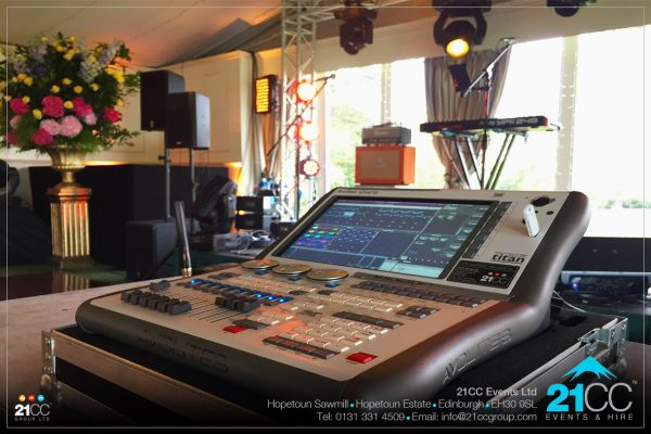 lighting desk hire edinburgh by 21CC Events Ltd