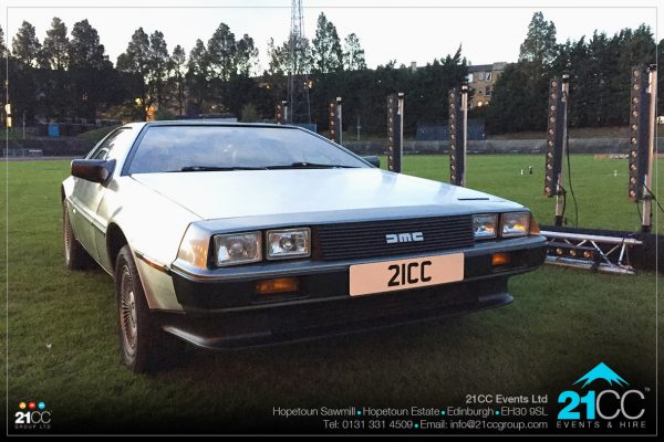 Delorean car for hire by 21CC Events Ltd
