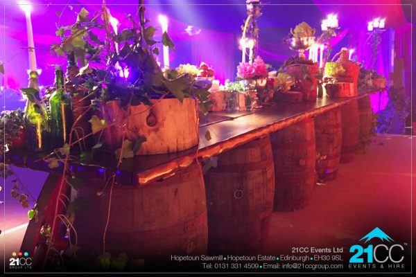 medieval table harry potter table by 21CC Events Ltd