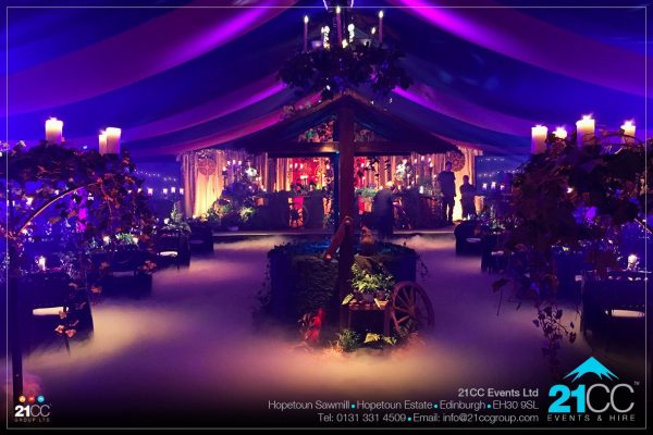harry potter themed dinner by 21CC Events Ltd