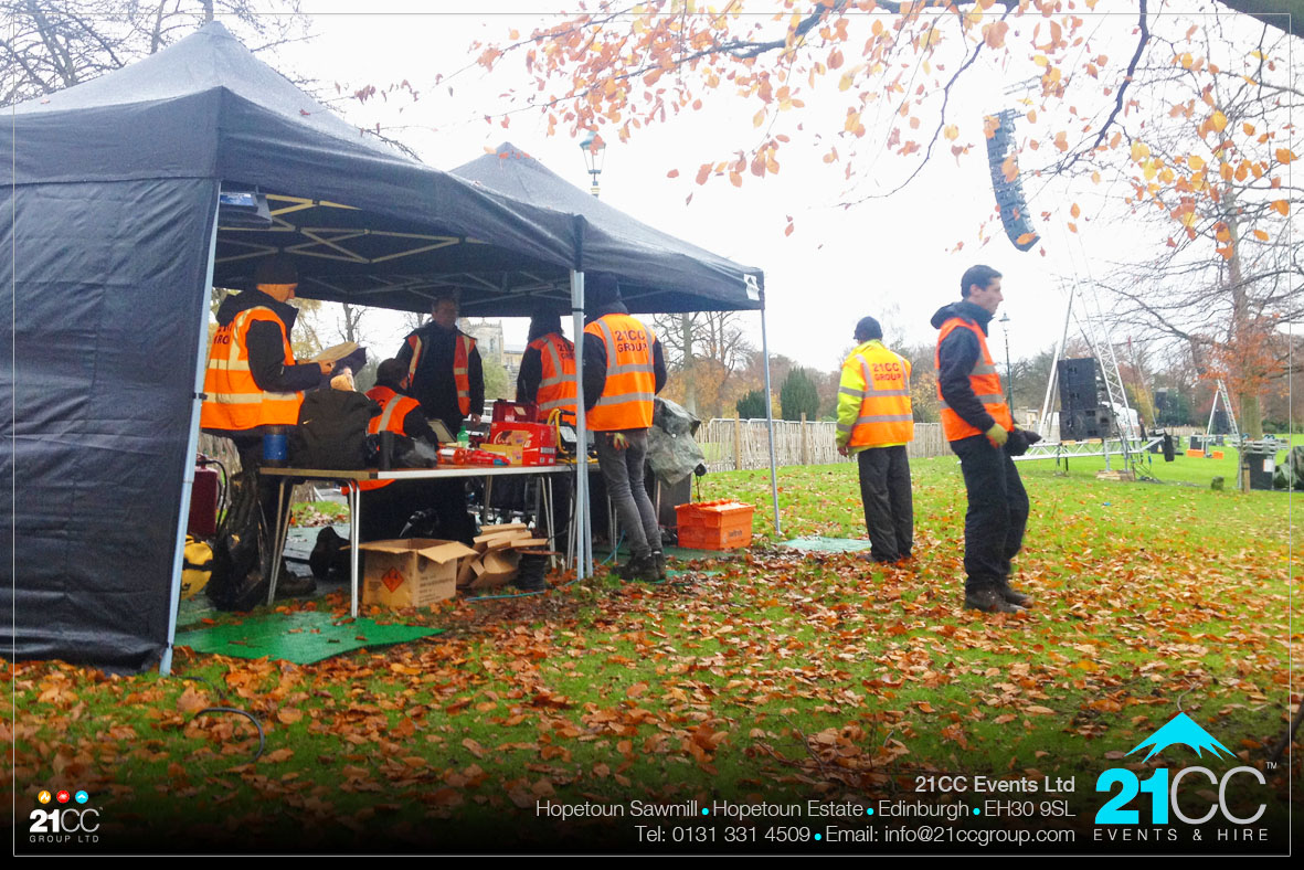 event planning in public parks by 21CC Events Ltd